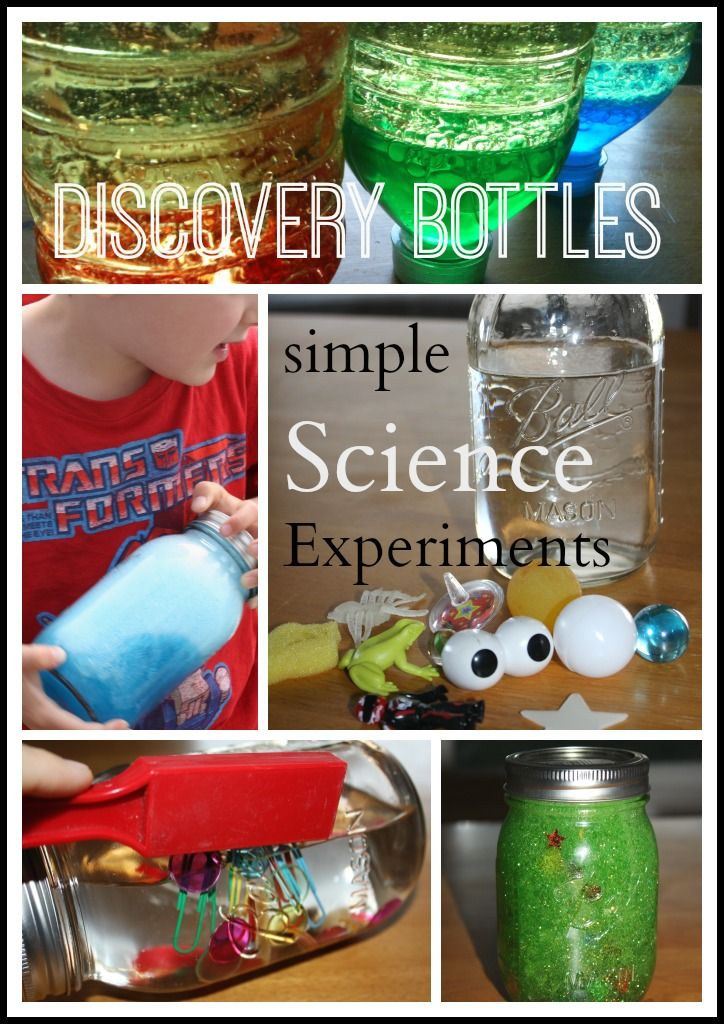 science discovery bottles saturday science experiments #kids #science