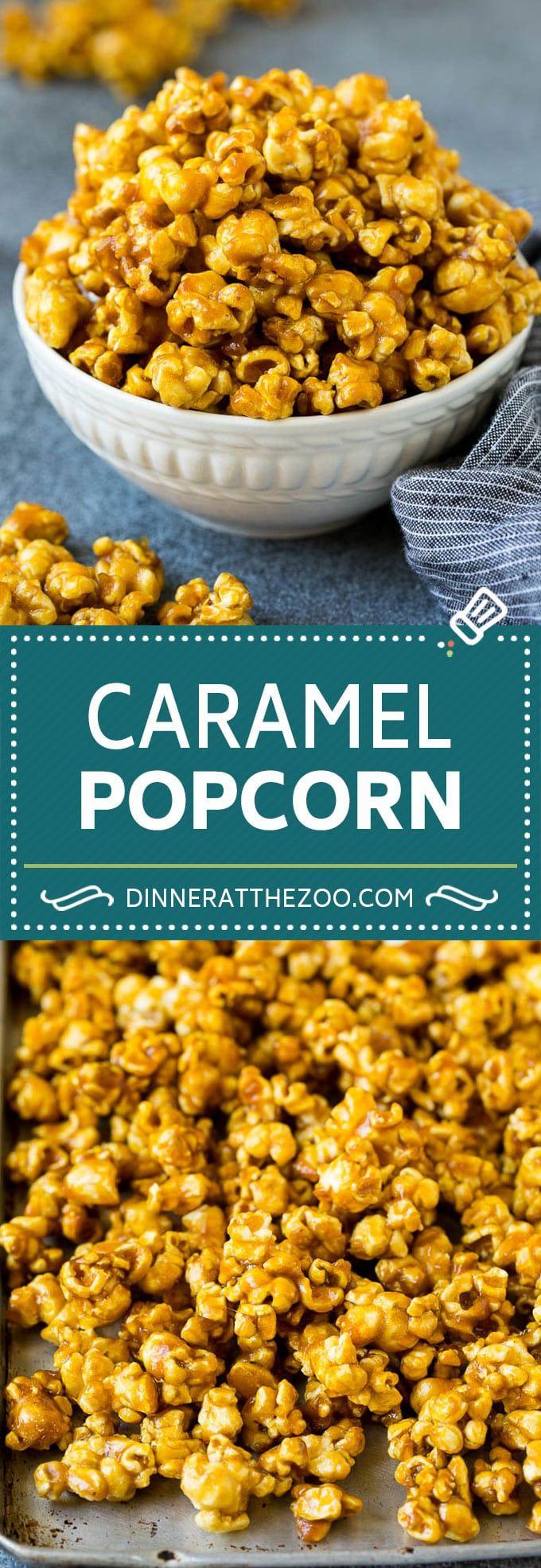 Caramel Popcorn Recipe Caramel Corn Popcorn Caramel Snack Dessert Dinneratthezoo Popcorn Recipes Caramel Popcorn Recipes Sweet Snacks