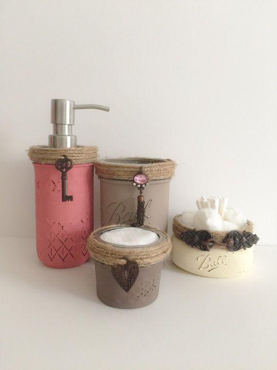 378 best images about mason jars idea 39 s diy on pinterest for Bathroom jar ideas