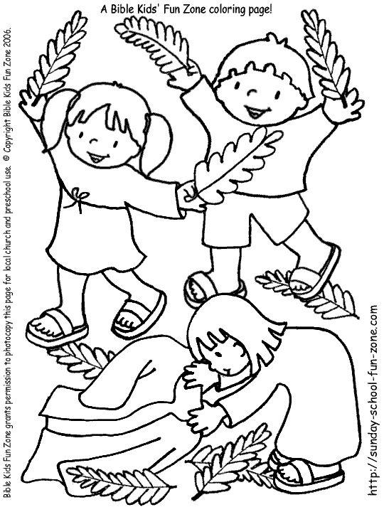 Palm Sunday kids coloring page