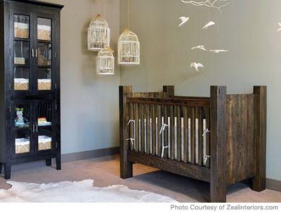 love love love the natural look of this nursery!! Natural nursery decor ideas - [ NineAndAHalfMonths.com ] #baby