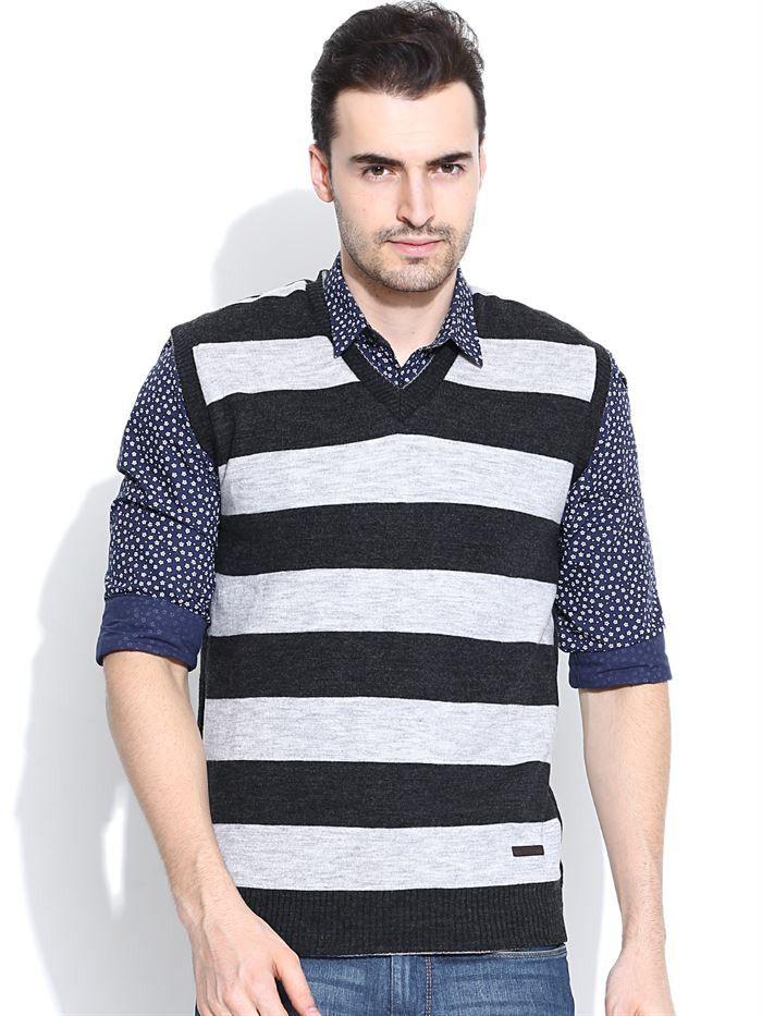 Get Ready for This #Winter #Season With #Duke #Collection! Flat 25% OFF On Duke Men's Sleeveless Sweater By @Return Favor #Shop #Online At:-http://www.returnfavors.com/brands/men/clothing/winter-wear/duke-men-black-melange-grey-sleeveless-sweater-by-returnfavors-3902.html