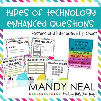 With the rise of technology, standardized testing is not the same today as it used to be.  The biggest hurdle is familiarizing students with the tools that they need to be able to use within the test itself.These posters and the interactive flip chart will familiarize students with the types of questions that they may encounter within the computerized standardized tests.