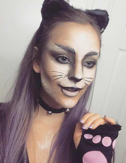 The 25+ best Cat halloween makeup ideas on Pinterest   Cat makeup ...