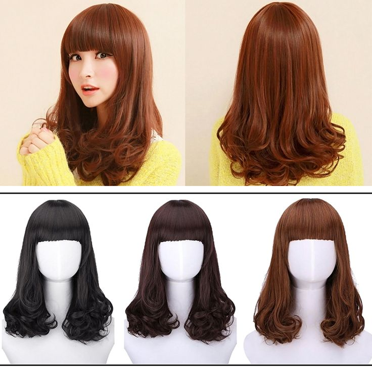 Fashion women Pear head long curly hair fluffy wigs free shipping #L04709