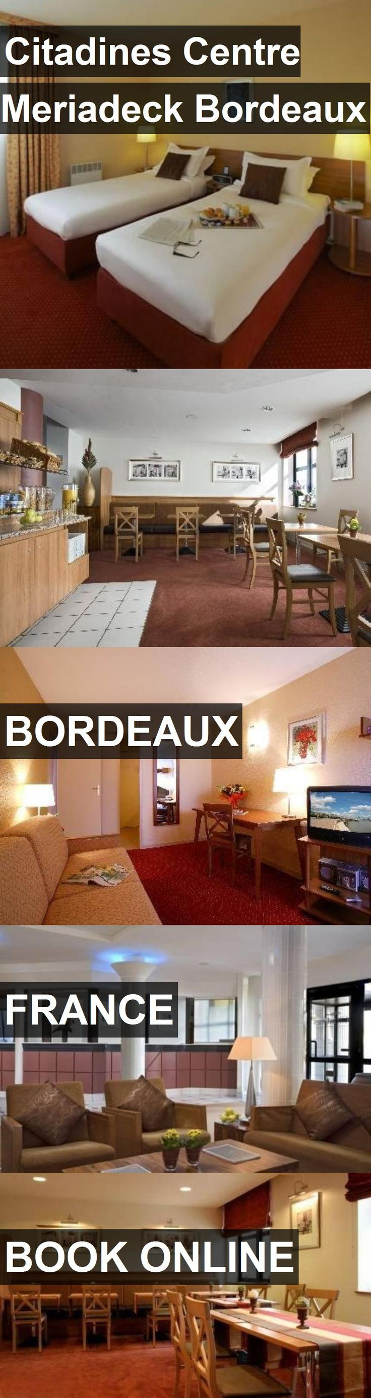 Hotel Citadines Centre Meriadeck Bordeaux in Bordeaux, France. For more information, photos, reviews and best prices please follow the link. #France #Bordeaux #travel #vacation #hotel