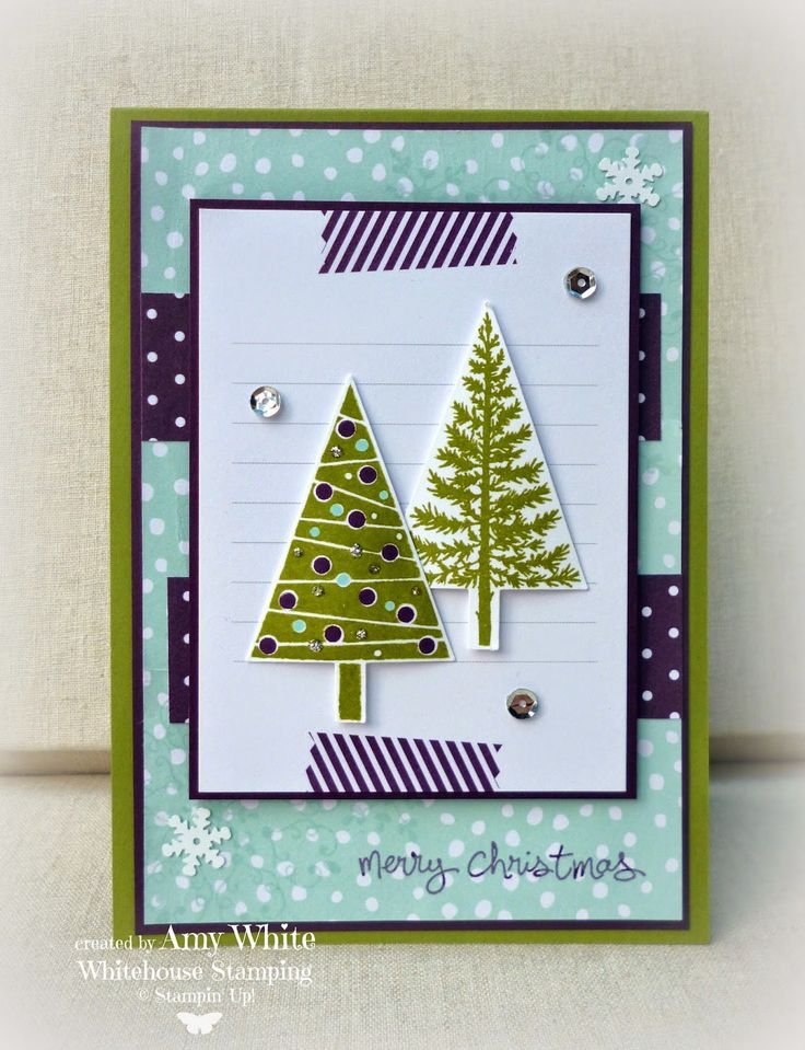Amy White: White House Stamping: Fresh Festive Trees... - 8/17/14 (SU: Festival of Trees/ Good Greetings (Holiday 2014)