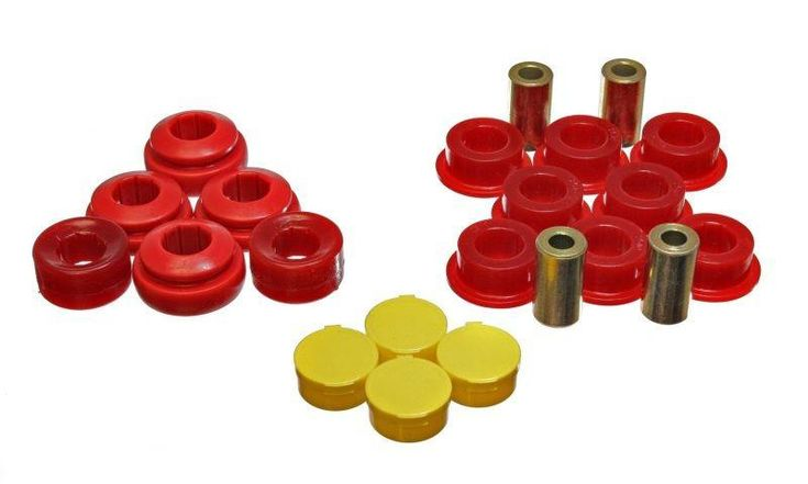 Energy Suspension 2001-2004 Honda Civic LX HX EX GX DX Value Package Hybrid Red Rear Trailing Arm Polyurethane Bushing Set