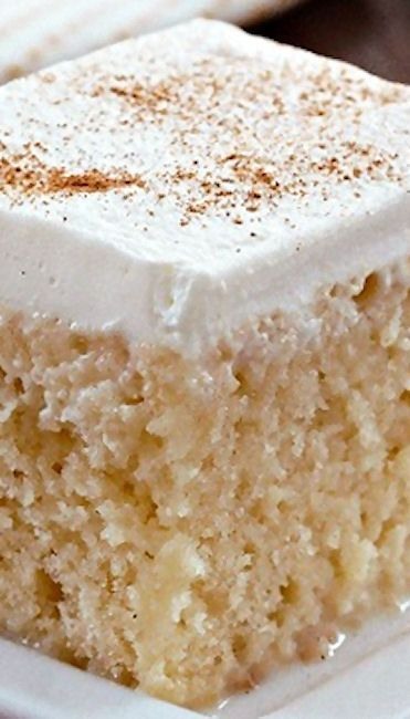 Tres Leches Cake ~ It's simple, easy and perhaps the moistest cake you'll ever have with a unique flavor you cannot find in most nonhispanic bakeries and restaurants.