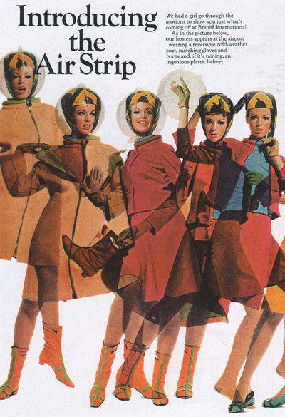 air stripEmilio Pucci, Southwest Airlines, Vintage Ii, Air Strips, Coif Hair, Braniff Airlines, Braniff International, Bubbles Hats, Uniforms Design