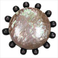 Linkasink D208 Beaded Round with Crackle Shell Drain