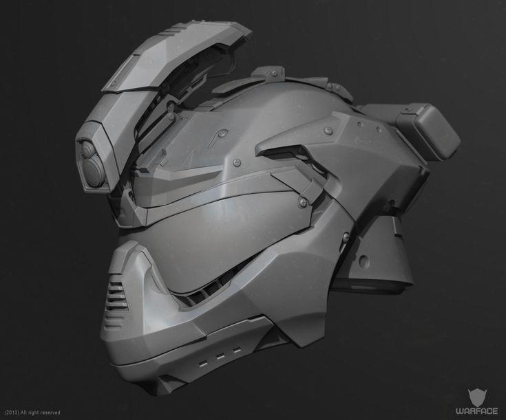 ArtStation - new 3d model for crytek (soldier helmet), Denis Didenko