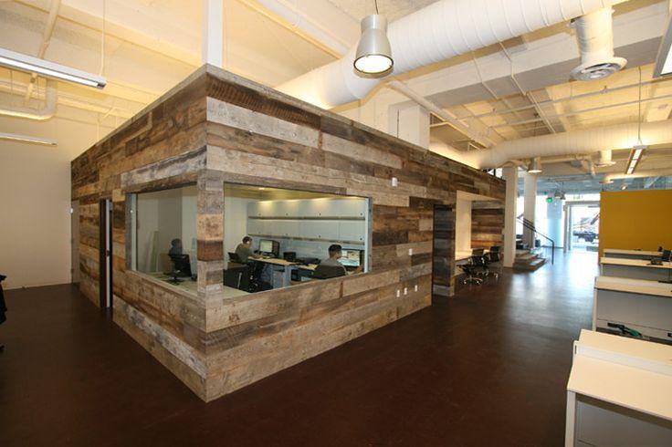 Mixed Barn Siding Wall Paneling - Office