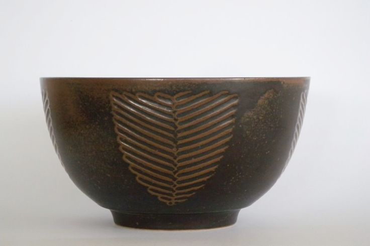 NAUTIL stoneware bowl by Erik Reiff for Knabstrup Keramik, late 1960s