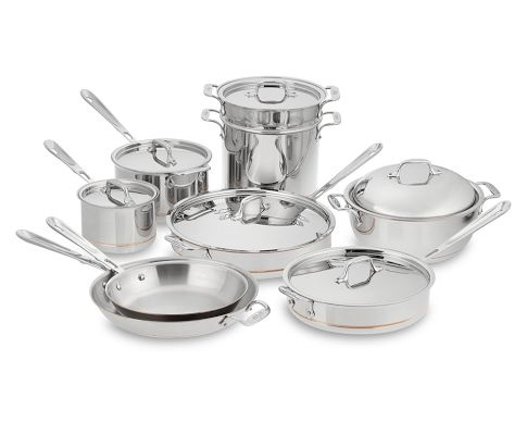 How sad is it that I'm drooling over these?Cookware Sets, Copper Cores, Dreams Kitchens, All Cladding Copper, Cooking Pots And Pan, Cores 15 Piece, Fancy Cookware, Cores Cookware, 15 Piece Cookware