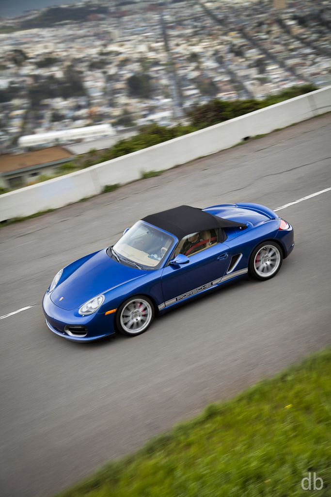 Blue 2011 Porsche Boxster Spyder