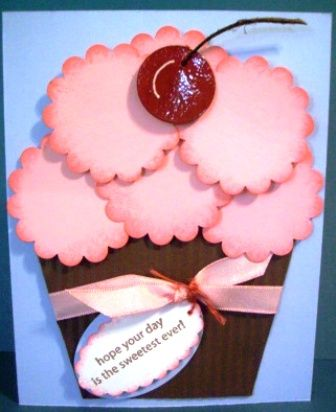 Cute birthday card for a girl.  (May your birthday and the coming year be as sweet as you!)