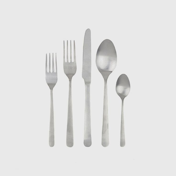 Founded by British designer and entrepreneur Andrew Corrie, Canvas Home is a collection of modern, sustainable home goods inspired by the beauty of handcrafted objects. With shapes influenced by mid 20th Century Scandinavian flatware, the Oslo 5 Piece Cutlery Set features clean, minimal lines, while a stainless steel finish adds sophistication and glamour - perfect for entertaining.