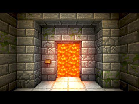 Automatic Lava Door! - Minecraft Tutorial - YouTube