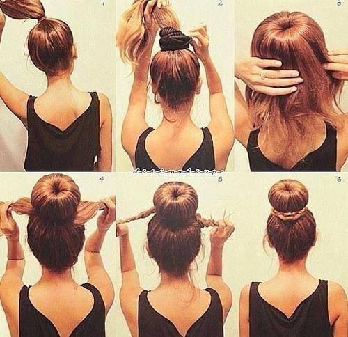 How to make a high bun in 6 easy steps. Feel free to use an unnecessary sock of yours, cut off the other side, and roll it into a bun to achieve step 2 if you do not have a bun maker. Xo