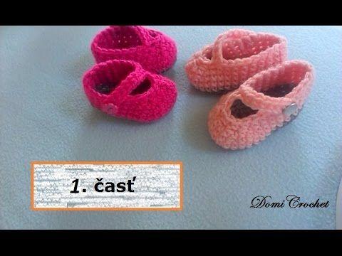 Ako hackovat detske topanocky (SK) 1. časť - How to crochet baby booties...