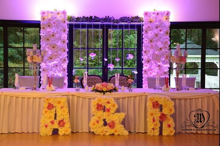 ściany kwiatowe, kwiatowe litery,  flower walls