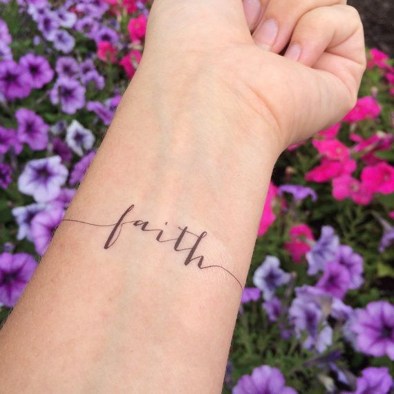 Faith Tattoo Arm Tattoo Temporary Tattoo by WhiteRabbitsDesign