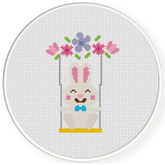 FREE for April 15th 2017 Only - Bunny Swing Cross Stitch Pattern