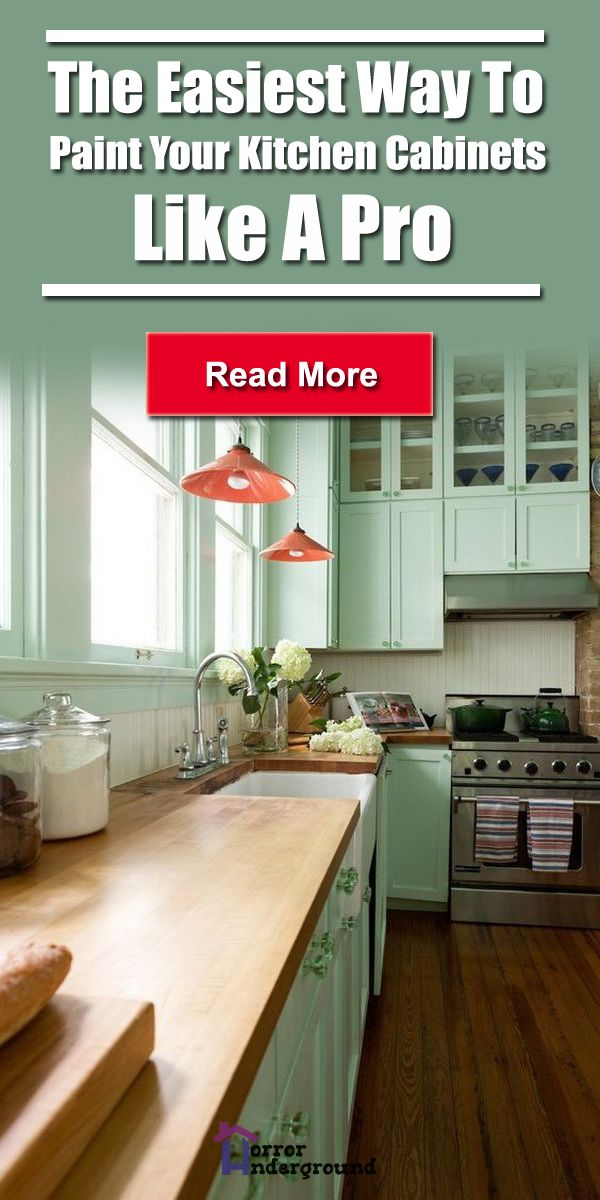 The Easiest Way To Paint Your Kitchen Cabinets Like A Pro ...