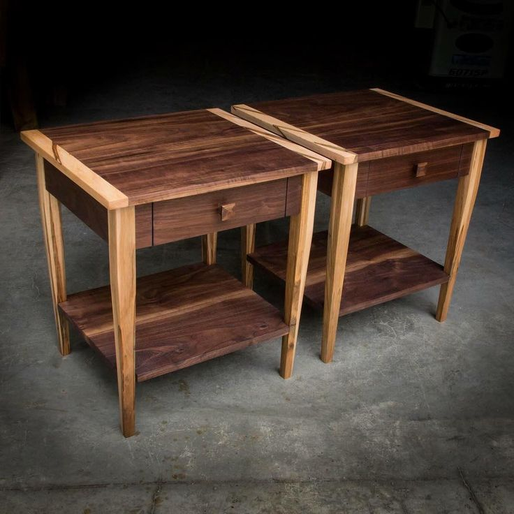 Walnut End Tables With Ambrosia Maple Accents, Colorado Bound.