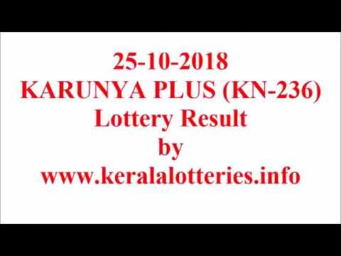 Kerala lottery result of Karunya plus KN-236 on 25-10-2018 | Kerala
