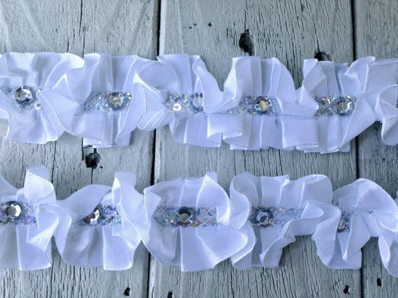 Hey, I found this really awesome Etsy listing at https://www.etsy.com/listing/162573726/new-white-ruffled-rhinestone-trim-1-yard