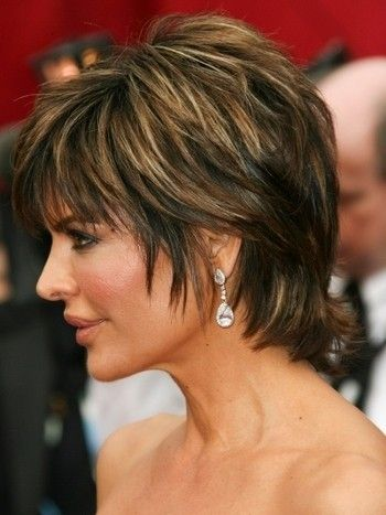 To copy Lisa Rinna's short hair, work in styling creme to build whispy texture, finger-placing hair as you blow-dry. Sweep fringe to the side, so it softly drapes the face with a light, textured finish. Tuck sides behind the ears for a different style. http://www.haircutshairstyles.com/lisa_rinna_haircuts-256.html