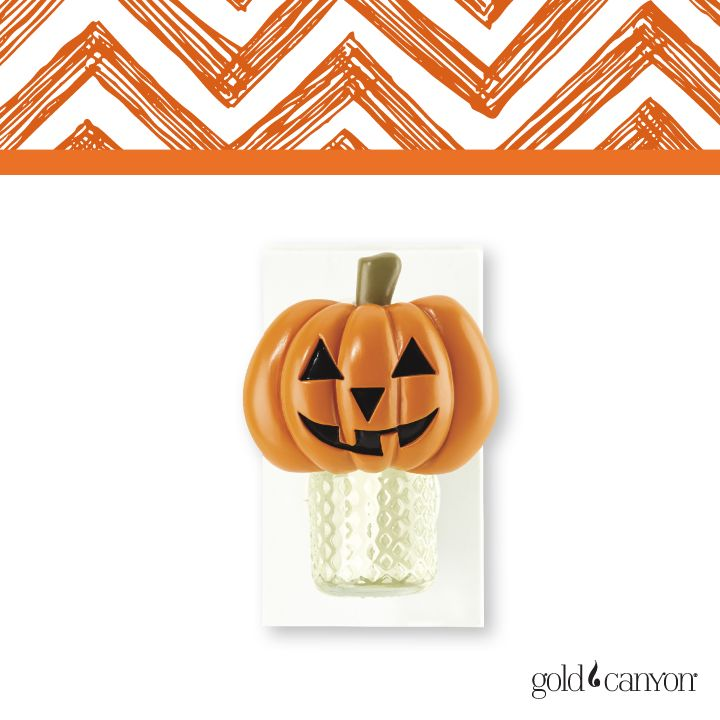 """The Jack-o'-lantern MagnaTie™ . . . so many possibilities! Shown here dressin' up a Scentric unit, but this smiley Jack has a 48"""" tie that fits practically everything."""