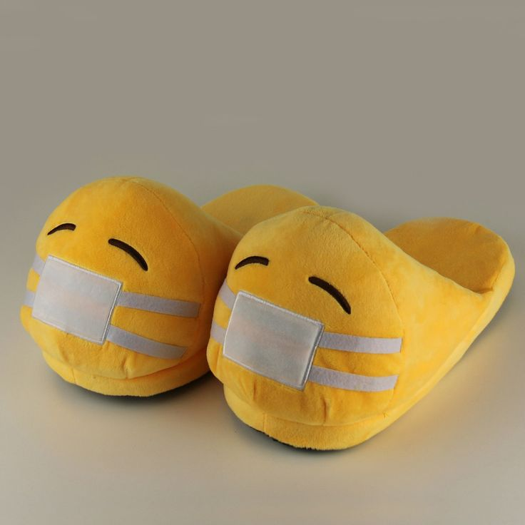Funny Plush Emoji Slippers