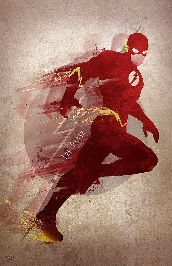 Original arte Giclee imprime 'Flash' por DigitalTheory en Etsy