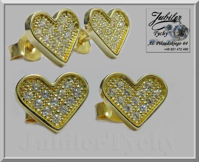 Złote kolczyki serduszka z cyrkoniami <3 #Złote #kolczyki na #wkrętki #sztyft z #cyrkoniami #serduszko #serduszka #serce #heart #Złoto #Au585 #Gold #Złote #serca #jubilertychy #cyrkonie #cyrkonia #Jubiler #Tychy #Jeweller #Tyski #Złotnik #Zaprasza #Promocje: ➡ jubilertychy.pl/promocje 💎