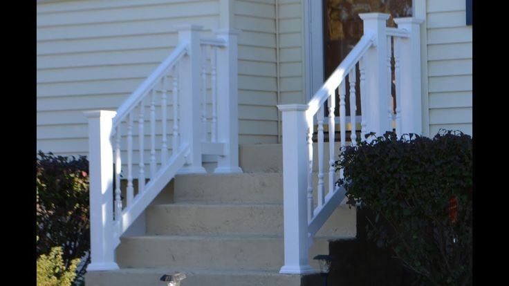 Best Vinyl Railing Attached To Concrete Patio Stairs 400 x 300