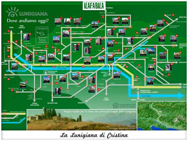 La Lunigiana di Cristina - Mappa Associazione Operatori Turistici Lunigianesi