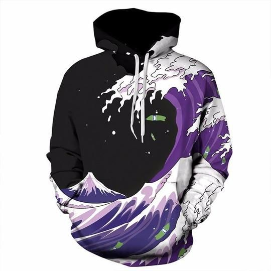 588dc85dab Autumn Winter Fashion Men/Women Hoodies Hooded With Hat Print Sea Wave –  dresslliy