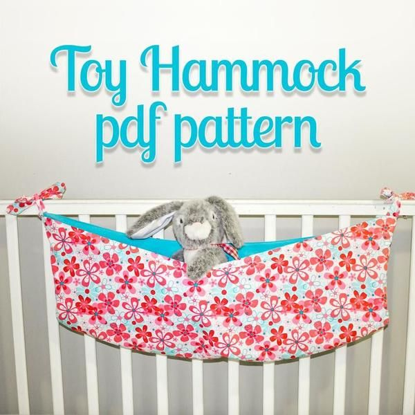 Learn how to make a toy hammock with this toy hammock pattern! Making a toy hammock is easy. Great as stuffed animal storage pattern too!