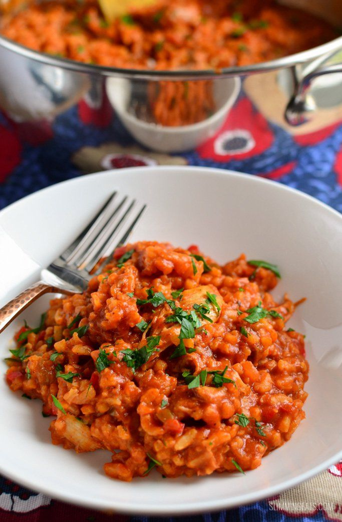 Slimming Eats Spicy Spanish Chicken and Rice - gluten free, dairy free, Slimming World and Weight Watchers friendly