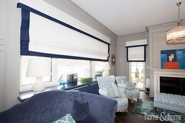 Classic roman blinds with a little touch of modern design.