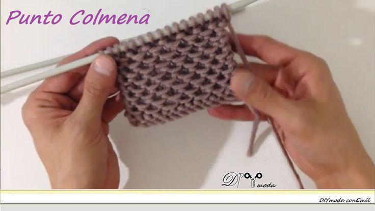 Cómo tejer el punto Colmena o punto Pañal                                                                                                                                                                                 Más