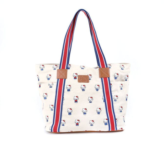 Hello Kitty Shoulder Tote Bag: Hello Kitty Canvas