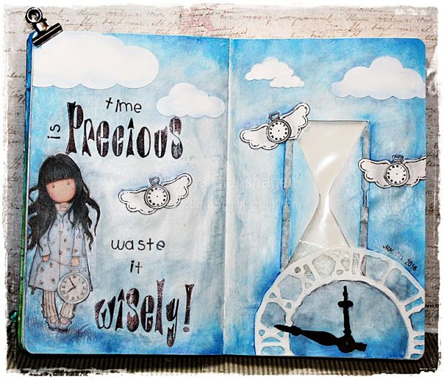 Time is precious. Art Journal, Mixed Media