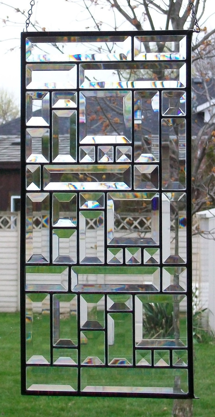 Bevelled Glass Window Panel. $75.00, via Etsy.