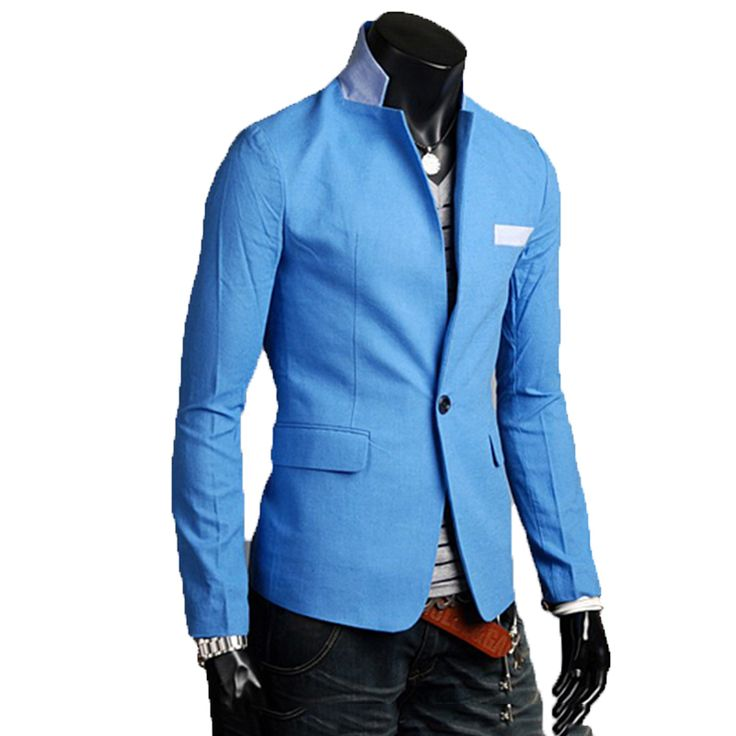 2015 new solid color cotton thin cheap suits for men groom brightly colored mens blazer a buckle leisure dress suit Men