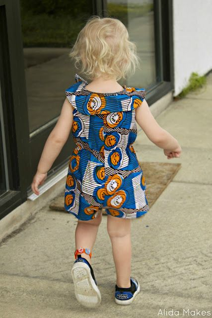 Romper style for Eliza--No, Clara, it's not to spite you--I think it's a good level of formality while letting her be comfortable and play. Maybe harder to tailor though