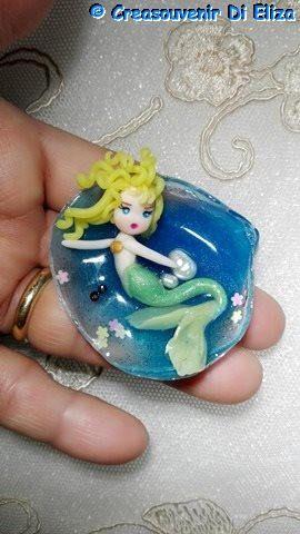 sirena conchiglia cabochon mare doll fate kawaii sea fairy perla di CREASOUVENIR su Etsy